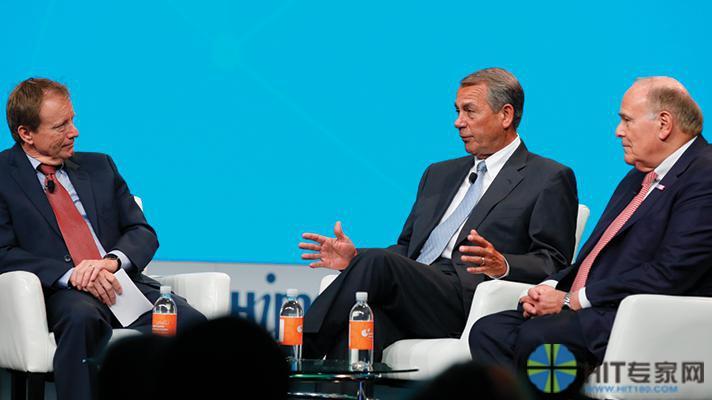 HIMSS首席执行官(CEO)Steve Lieber在HIMSS17主持了John Boehner和Ed Rendell之间的讨论