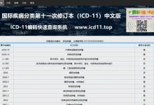 ICD-11编码快速查询系统上线试运行